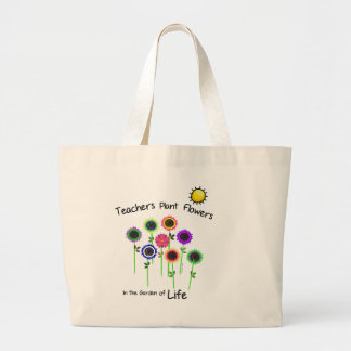 Teachers Plant Flowers Jumbo Tote