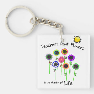 Teachers Plant Flowers Key Chain