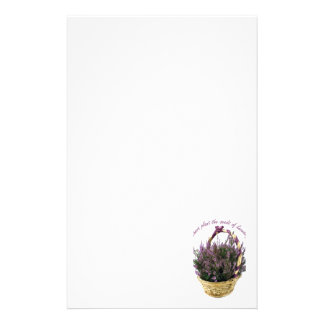 Teachers Plant Seeds Lavender Stationery