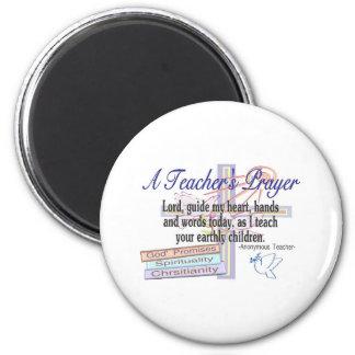 Teacher's Prayer Gifts---Unique Teacher 2 Inch Round Magnet