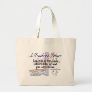 Teacher's Prayer Gifts---Unique Teacher Large Tote Bag