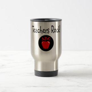 Teachers Rock Apple Travel Mug