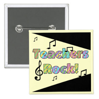Teachers Rock Tshirts and Gifts 2 Inch Square Button