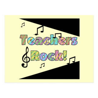 Teachers Rock Tshirts and Gifts Postcards