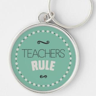 Teachers Rule – Green Keychain