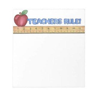 Teachers Rule Notepad