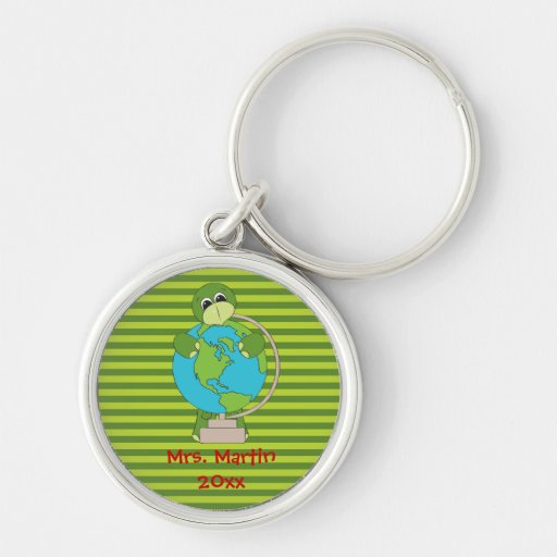 Teachers School Globe Keychain