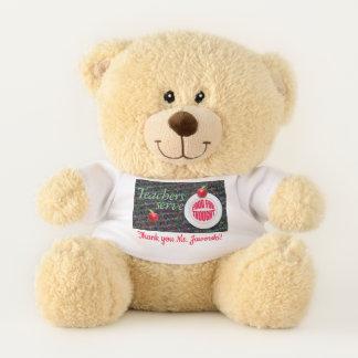 Teachers serve food for thought. teddy bear
