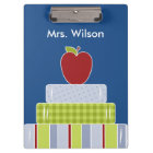Teacher's Stack of Books Custom Clipboard