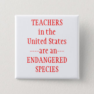 Teachers United States 2 Inch Square Button