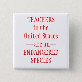 Teachers United States 2 Inch Square Button