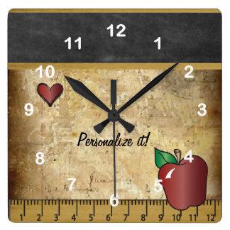 Teacher's Vintage Style Chalkboard Clocks