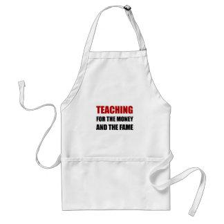 Teaching For Money Fame Standard Apron