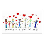 Teaching is a Work of Heart Info Cards Business Cards