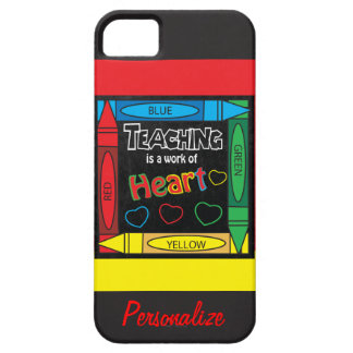 Teaching is a work of heART  iphone Cover iPhone 5 Covers