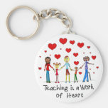Teaching is a Work of Heart Keychain