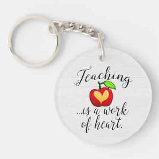 Teaching is a Work of Heart Teacher Appreciation Keychain