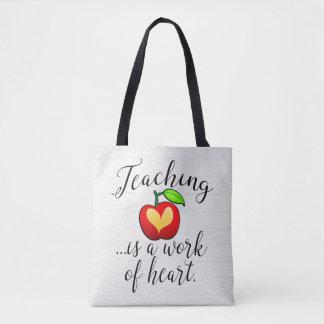 Teaching is a Work of Heart Teacher Appreciation Tote Bag