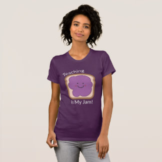 Teaching Is My Jam Women's Purple T-Shirt