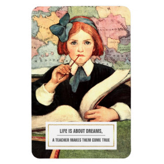 Teaching Quote | Vintage Art Gift Magnets