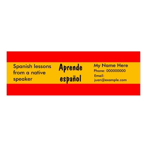 Teaching Spanish Language Advertising Cards Pack