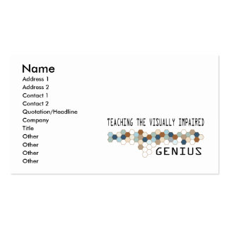 Teaching the Visually Impaired Genius Business Cards
