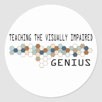 Teaching the Visually Impaired Genius Stickers