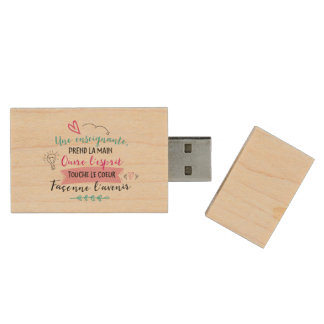Teaching USB key Wood USB 2.0 Flash Drive