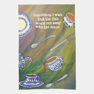 Teacup and spoon MoJo Kitchen Towel