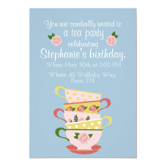 Teacup Birthday Party Invitations