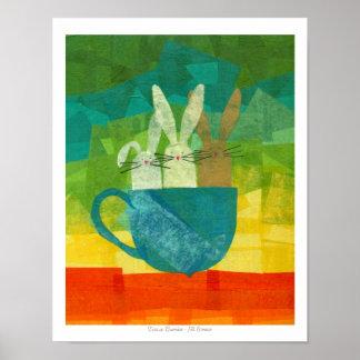 Teacup Bunnies Poster