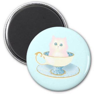 Teacup Kitten 2 Inch Round Magnet