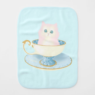 Teacup Kitten Burp Cloth
