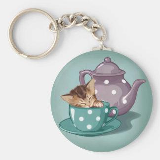 Teacup Kitten Keychain