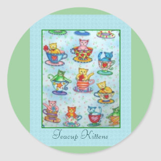 Teacup Kittens Stickers