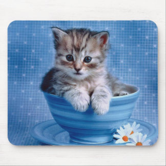Teacup Kitty Mouse Pad