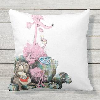 Teacup pups outdoor pillow