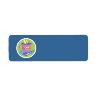 Teacup Return Address Label