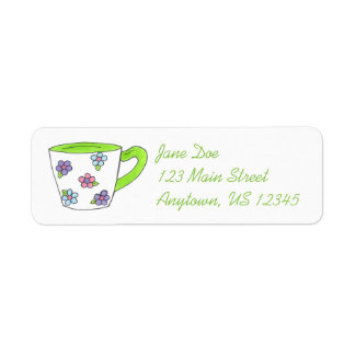 Teacup Tea Party Return Address Labels