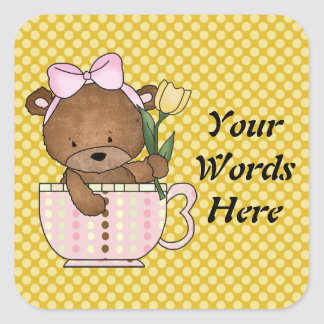 Teacup Teddybear Sticker