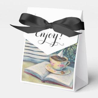 Teacup Tiny Favor Box - Pastel Black & White