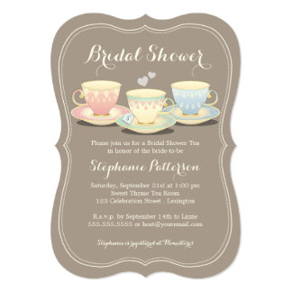 Bridal Shower Tea Party Invitations & Announcements | Zazzle Canada