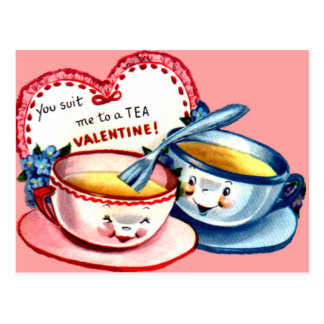 Teacup Valentine Postcard