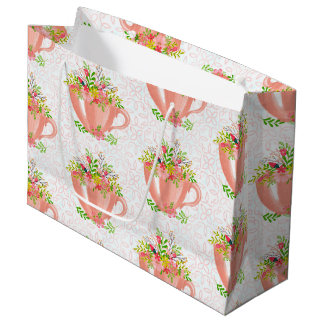 Teacups Large Gift Bag