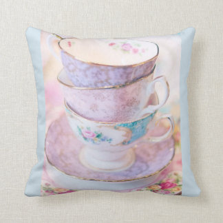 Teacups Throw Pillow