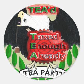 TEA'd Round Sticker
