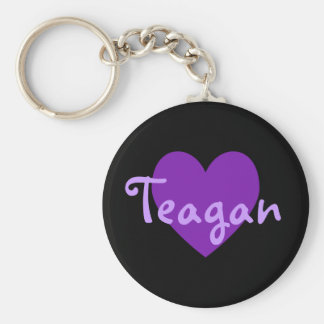 Teagan in Purple Keychain