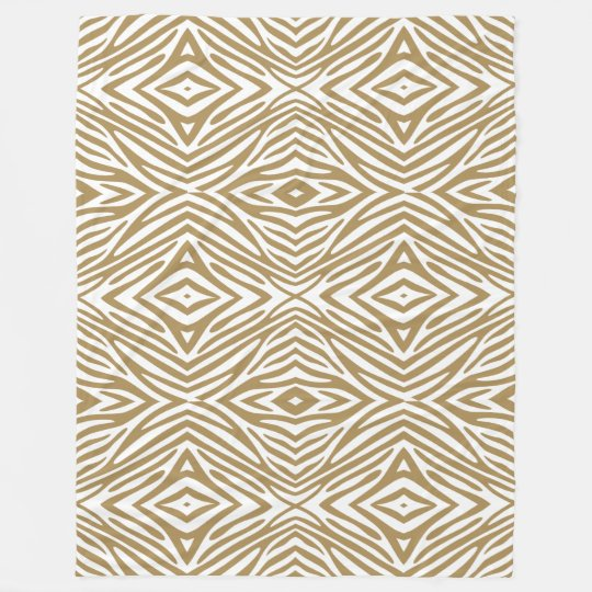 Teak Neutral Zebra Fleece Blanket