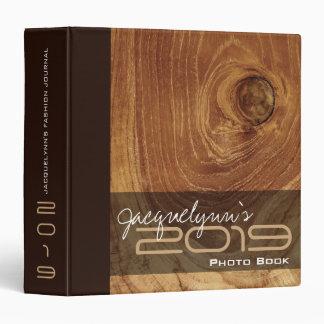 Teak Wood Grain Wooden Rustic Texture Photo Binder