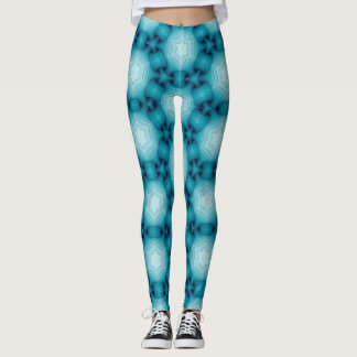Teal 3d Look Ribbon Leggings